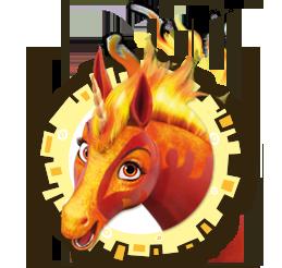 Unicorno del fuoco